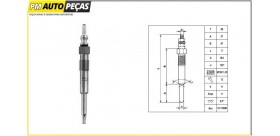 DG-124 - Vela de incandescência - DENSO