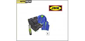 Mala de ferramenta portátil +jaqueta azul / verde L + lâmpada portátil JBM