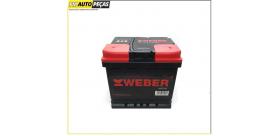 Bateria WEBER - 45 Ahl - 330A - Positivo ESQ