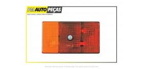Farolim Reboque, Amarelo / Vermelho com Luz de Matrícula 3 Posições