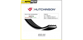 Correia Poly V HUTCHINSON - 850 K4 - 850mm