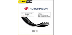 Correia Poly V HUTCHINSON - 890 K4 - 890mm