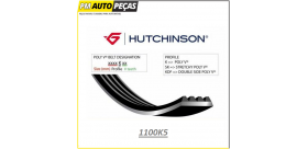 CORREIA POLY V HUTCHINSON - 1100 K5 - 1100MM